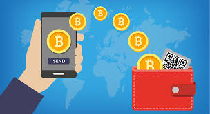 The illustration of cryptocurrency wallet