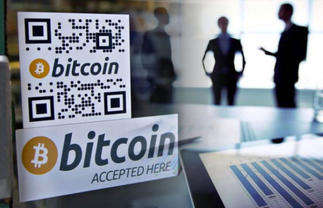 Signs to illustrate businesses that accept Bitcoin in South Africa
